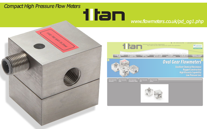 high pressure flow meters and sensors