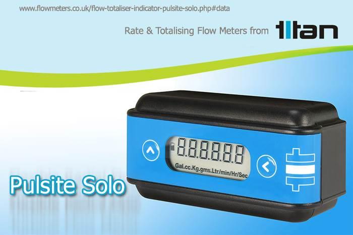 rate and totalising flow meter/sensor