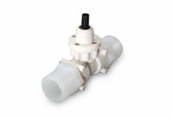 FT2 turbine flow meter manufactured in PVDF with 1 inch fittings