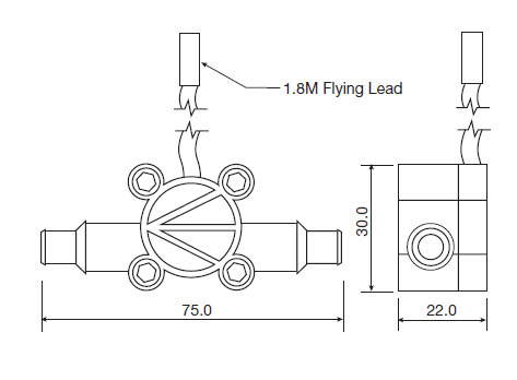turbine flow meter dimensions