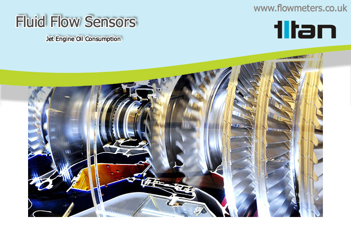 fluid flow sensors and jet engine oil consumption
