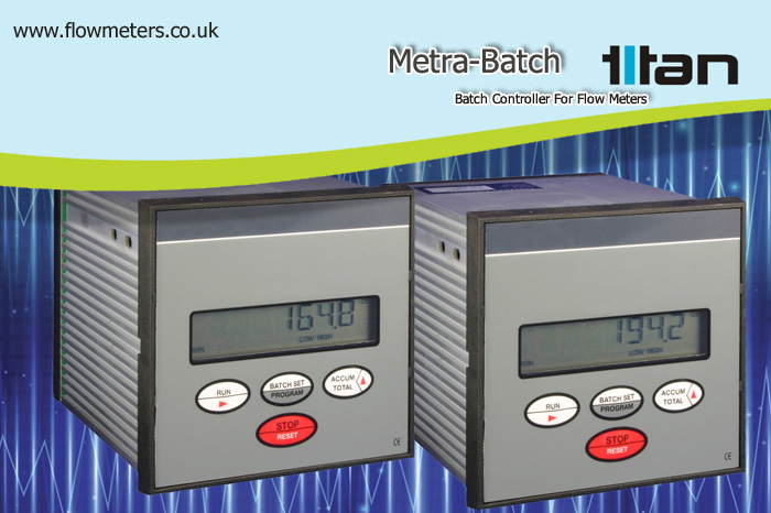batch controller for flow meters