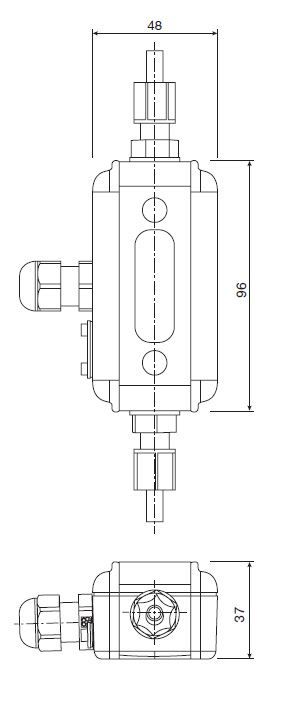 metra flow PFA non invasive flow meter