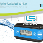 battery powered flow meter and rate and total indicator