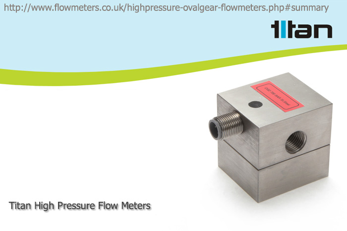 compact high pressure flow meters
