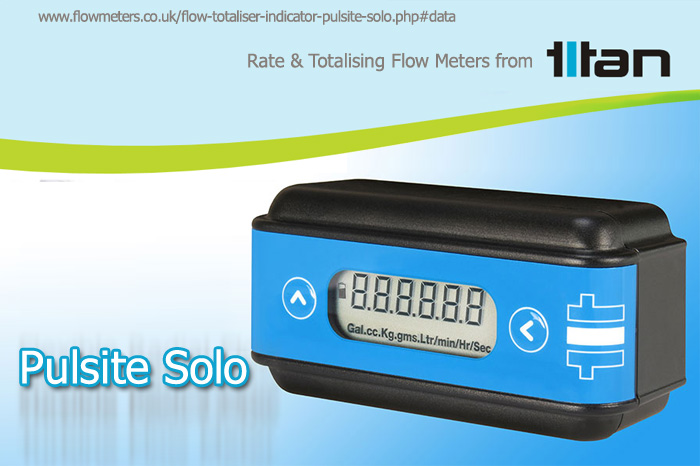 rate and totalising flow meter/sensor