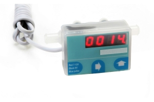 rate and totalising flow meter with programmable display