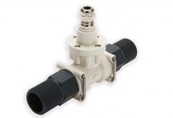 FT2 turbine flow meter with 3/4 PVC fittings