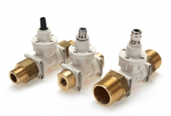 FT2 turbine flow meters with brass fittings