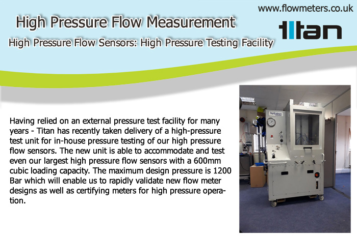 high pressure flow sensors