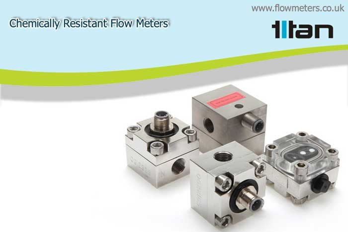 chemically resistant flow meters